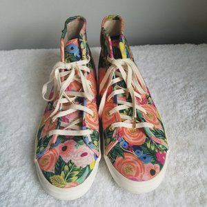 Keds x Rifle Paper Co. floral high tops Sz 8.5